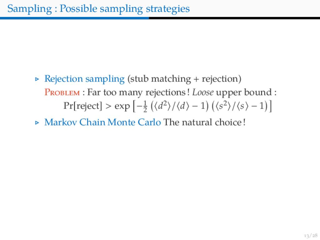 / Sampling : Possible sampling strategies Rejec...