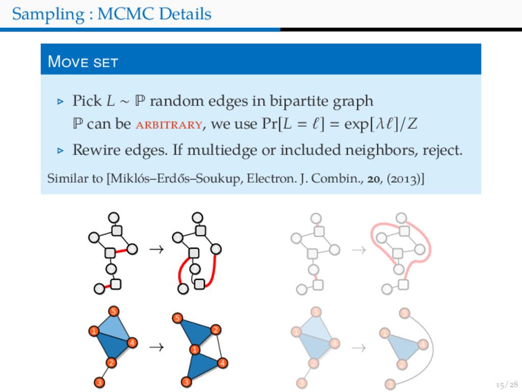 / Sampling : MCMC Details M Pick L ∼ P random e...