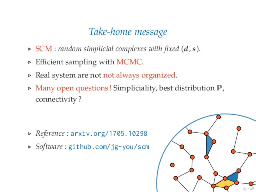 / Take-home message SCM : random simplicial com...