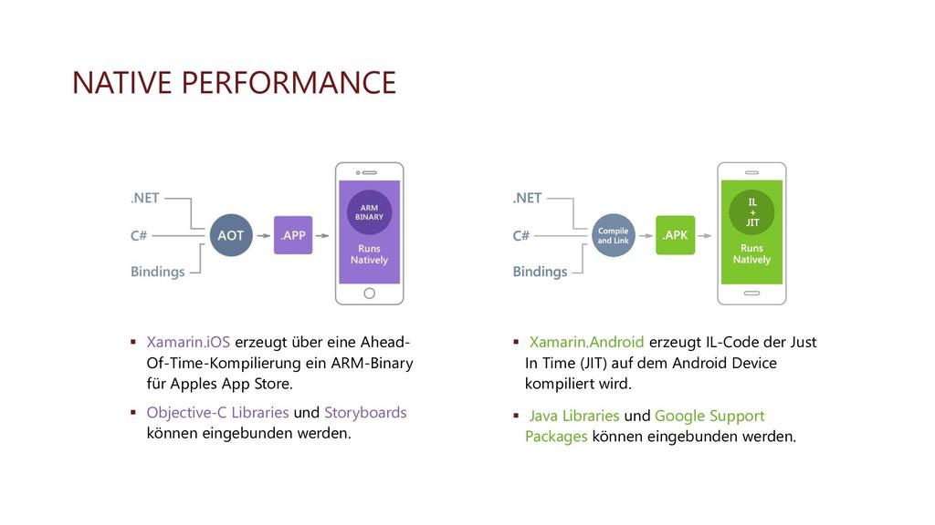 NATIVE PERFORMANCE ▪ Xamarin.iOS erzeugt über e...