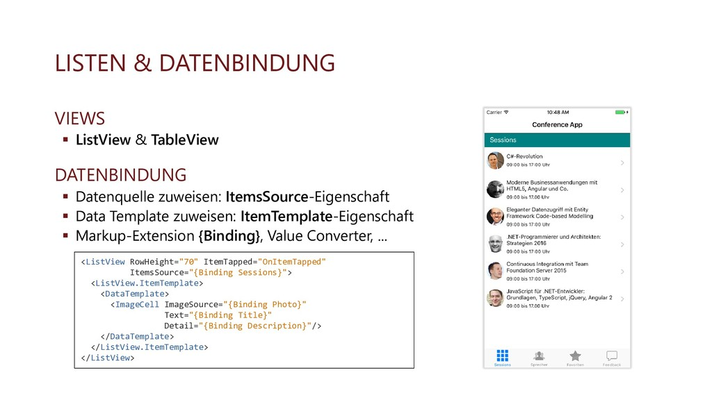 LISTEN & DATENBINDUNG VIEWS ▪ ListView & TableV...