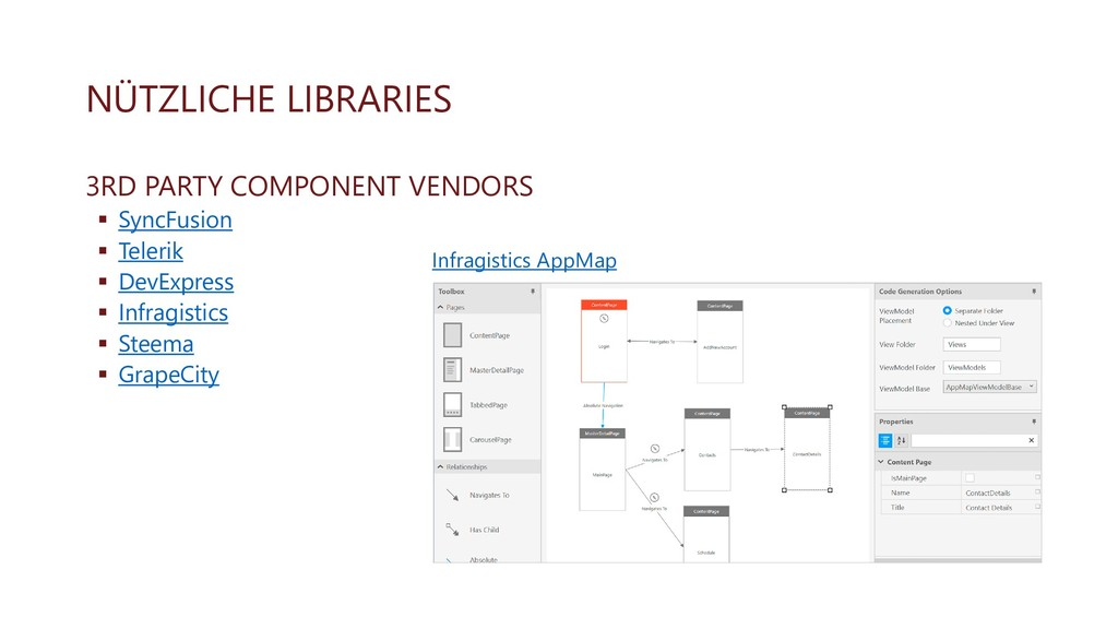 NÜTZLICHE LIBRARIES 3RD PARTY COMPONENT VENDORS...