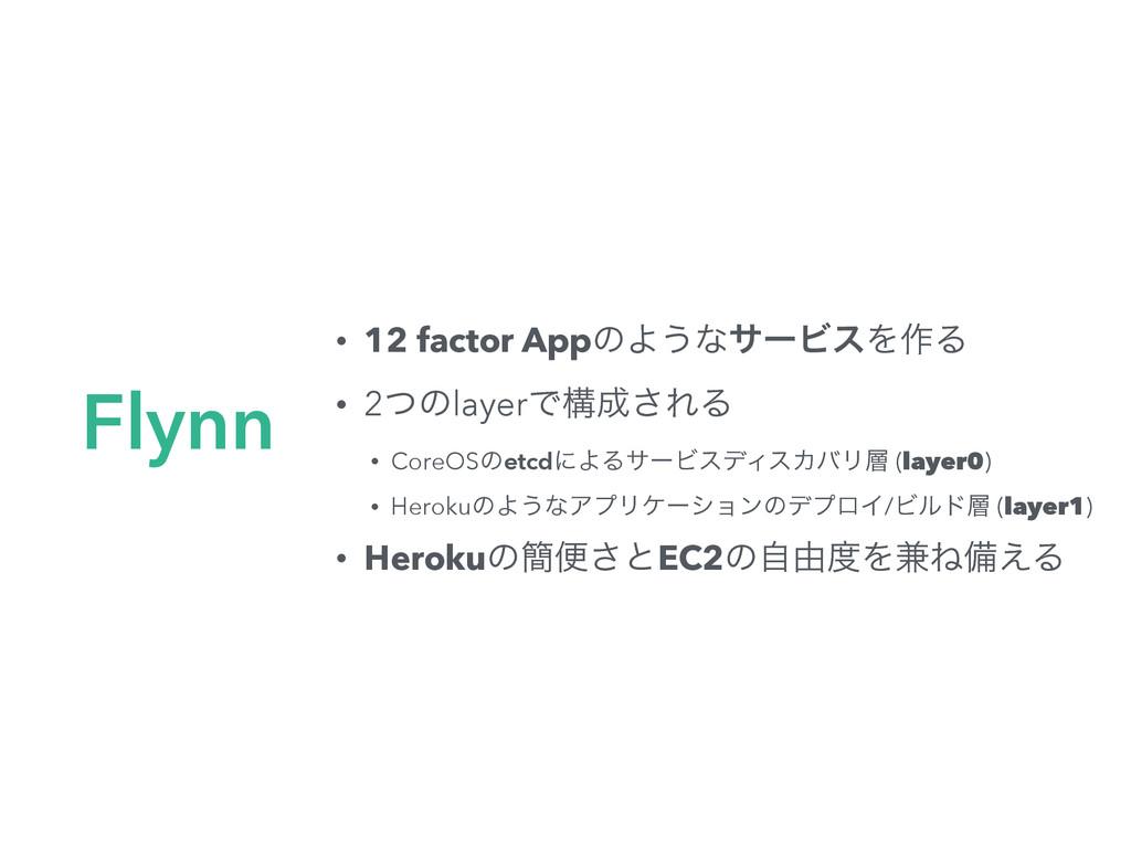 • 12 factor AppͷΑ͏ͳαʔϏεΛ࡞Δ • 2ͭͷlayerͰߏ͞ΕΔ • C...