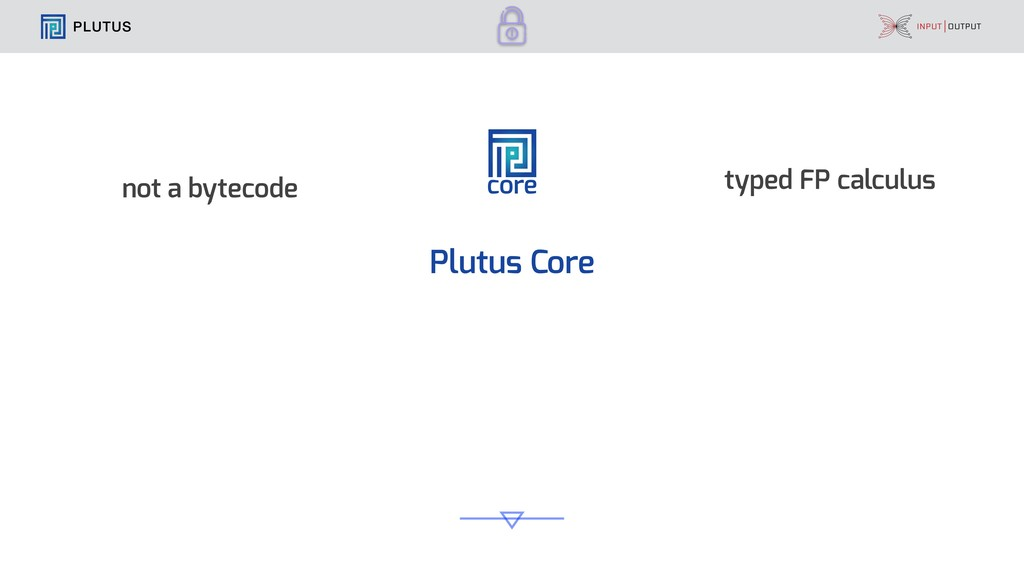 PLUTUS core Plutus Core not a bytecode typed FP...