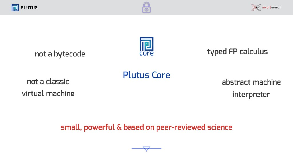 PLUTUS core Plutus Core small, powerful & based...
