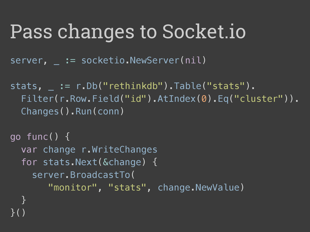 server, _ := socketio.NewServer(nil) stats, _ :...