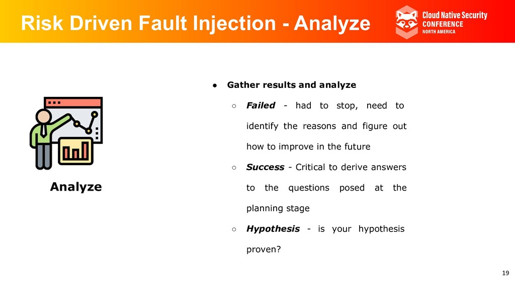 Risk Driven Fault Injection - Analyze Analyze ●...