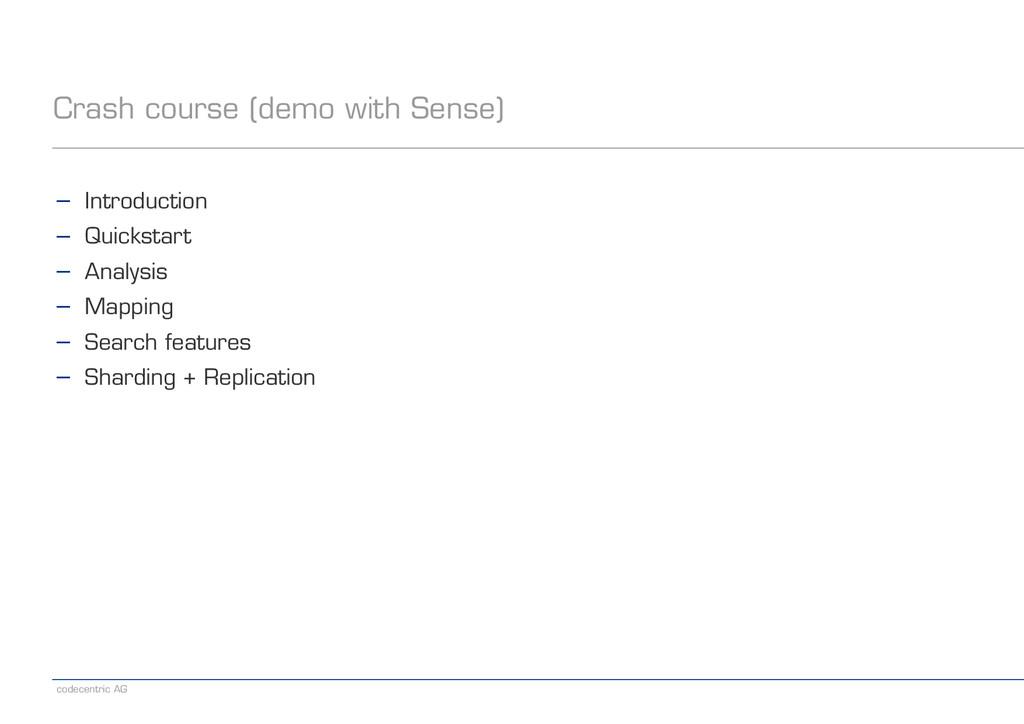 codecentric AG Crash course (demo with Sense) −...