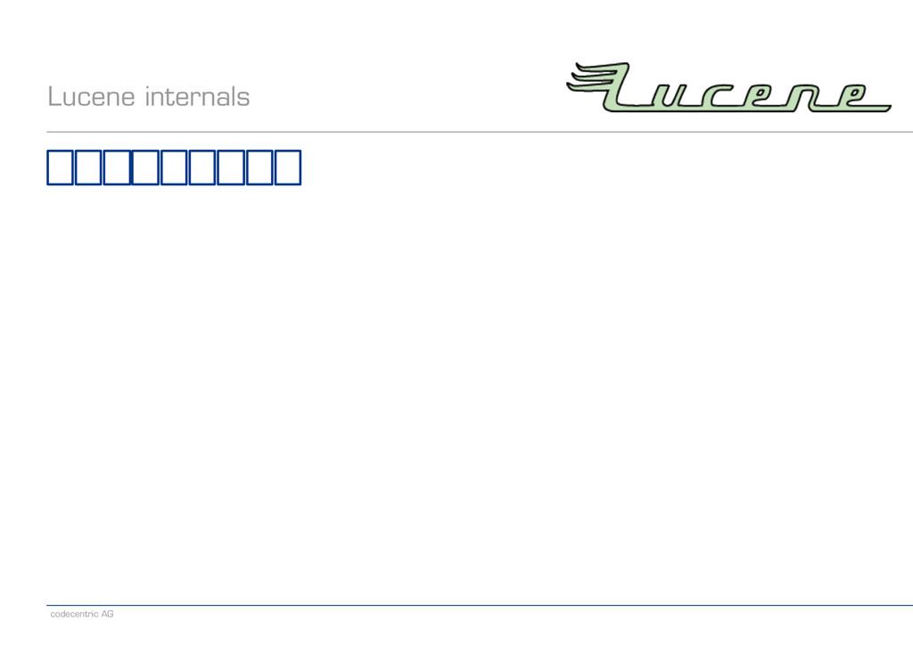 codecentric AG Lucene internals