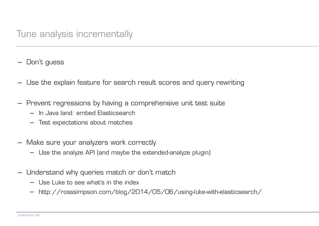 codecentric AG Tune analysis incrementally − Do...
