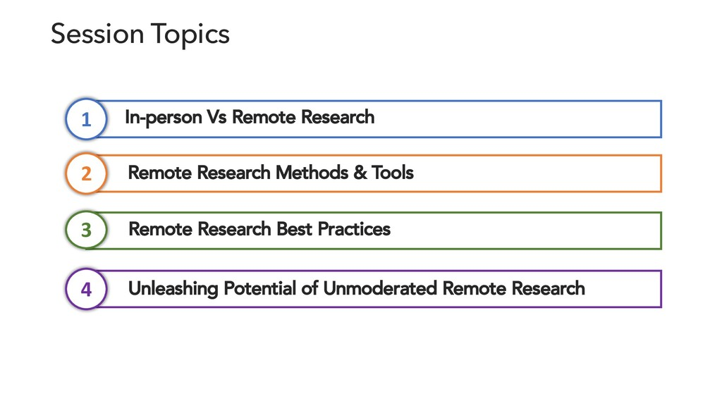 Session Topics Remote Research Methods & Tools ...