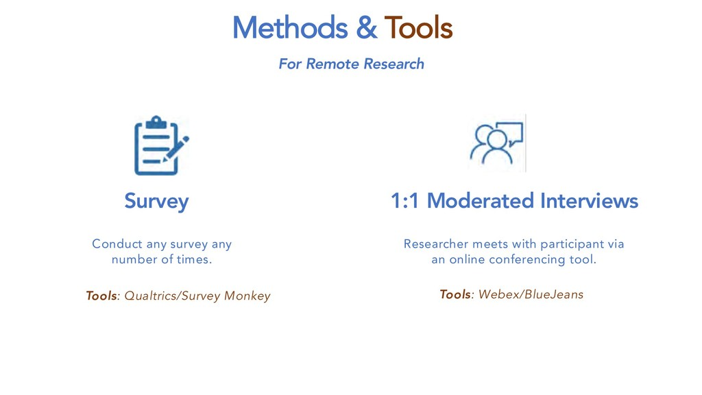 Methods & Tools Conduct any survey any number o...