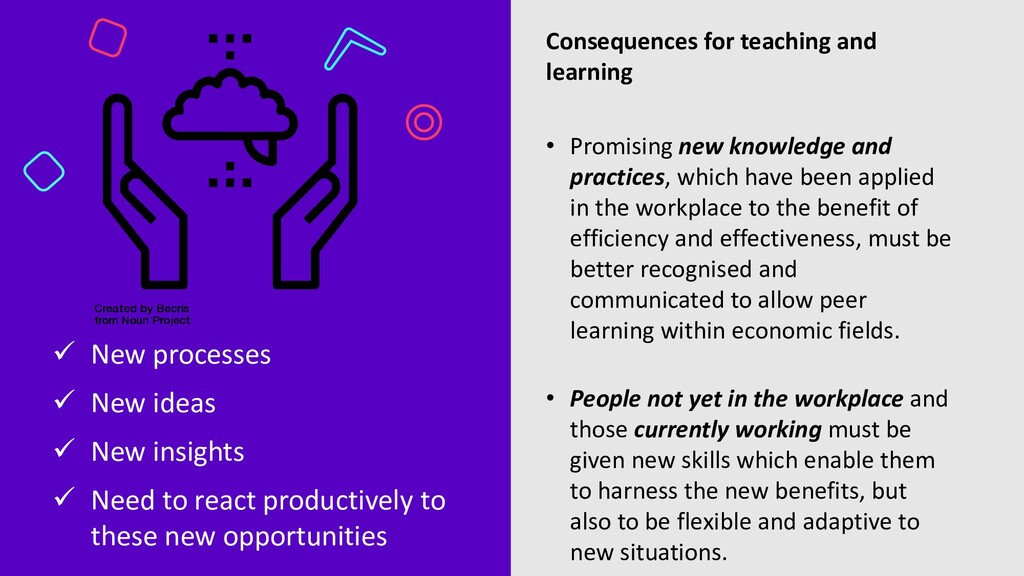 Consequences for teaching and learning • Promis...