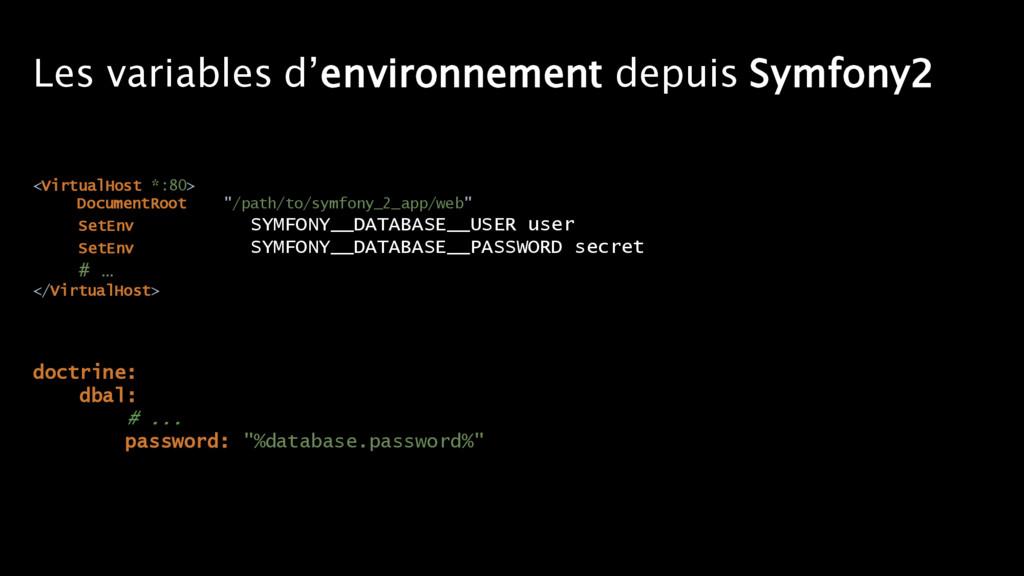Les variables d'environnement depuis Symfony2 <...