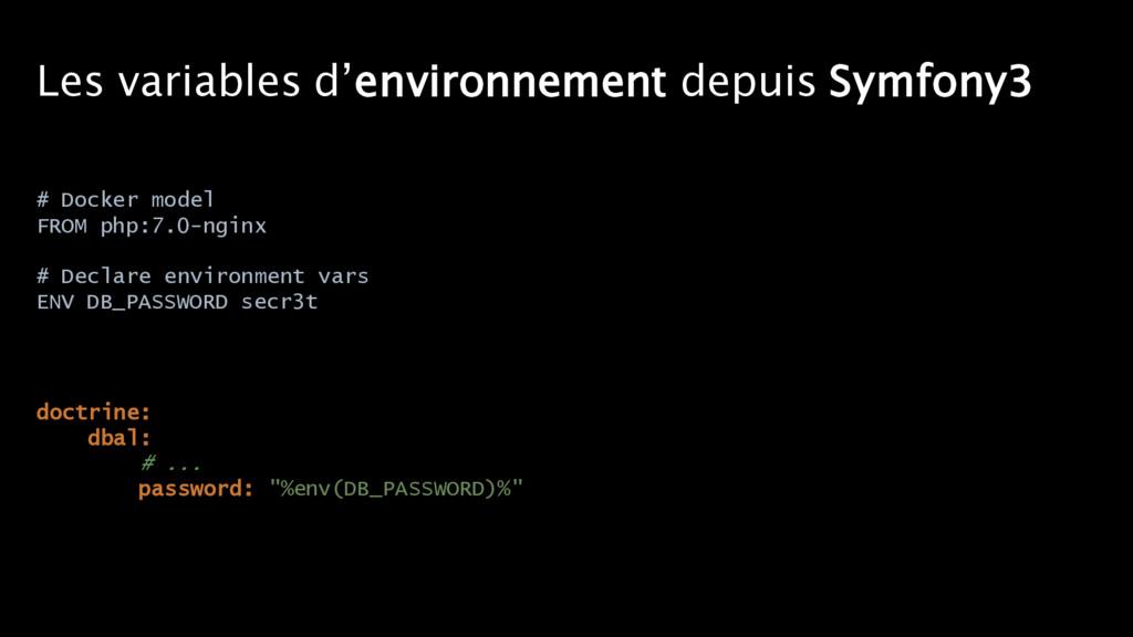 Les variables d'environnement depuis Symfony3 d...