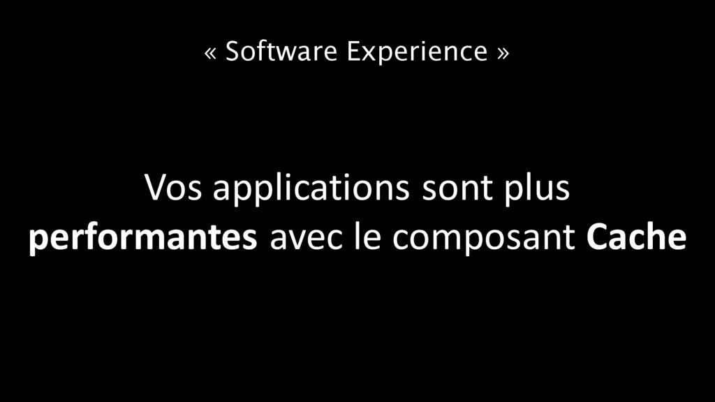 « Software Experience » Vos applications sont p...