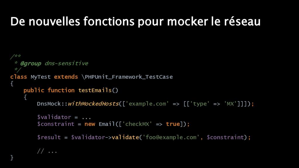 De nouvelles fonctions pour mocker le réseau /*...