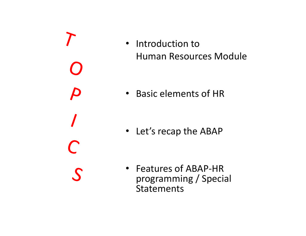• Introduction to Human Resources Module • Basi...