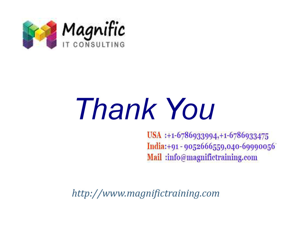 Thank You Thank You http://www.magnifictraining...