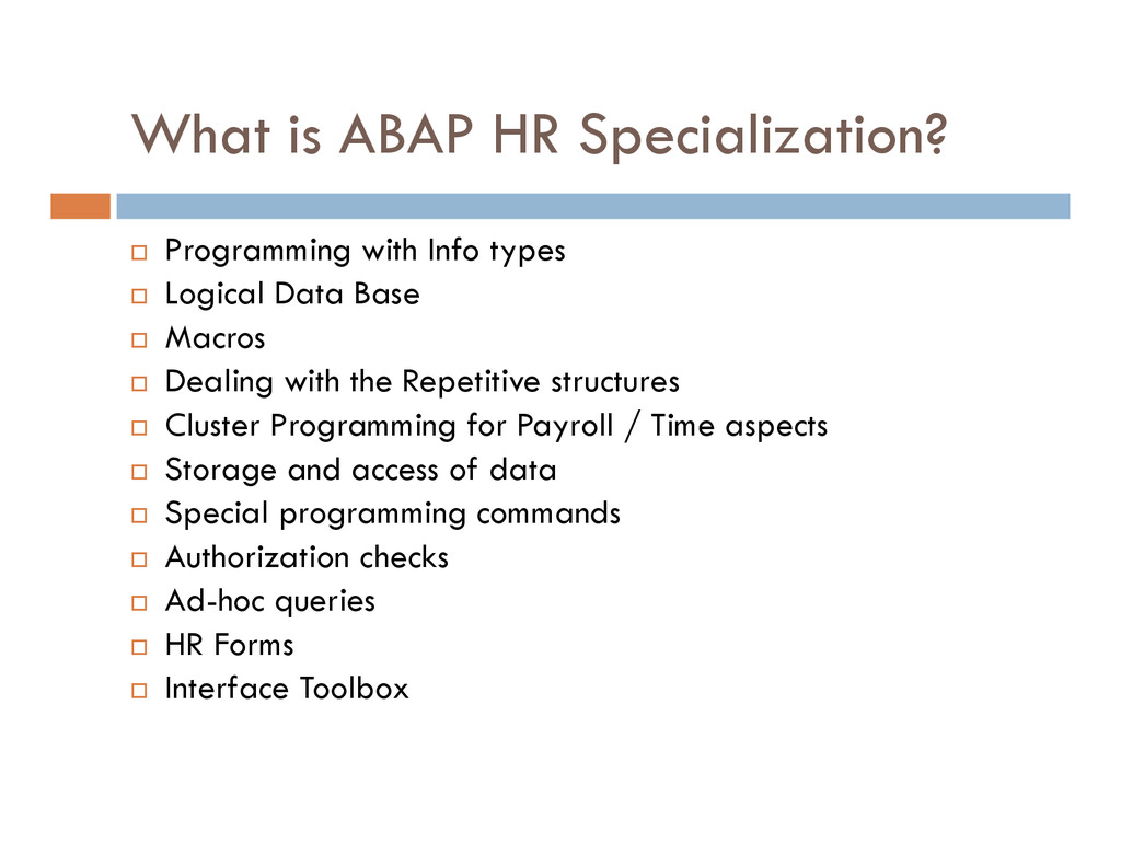 What is ABAP HR Specialization? Programming wit...