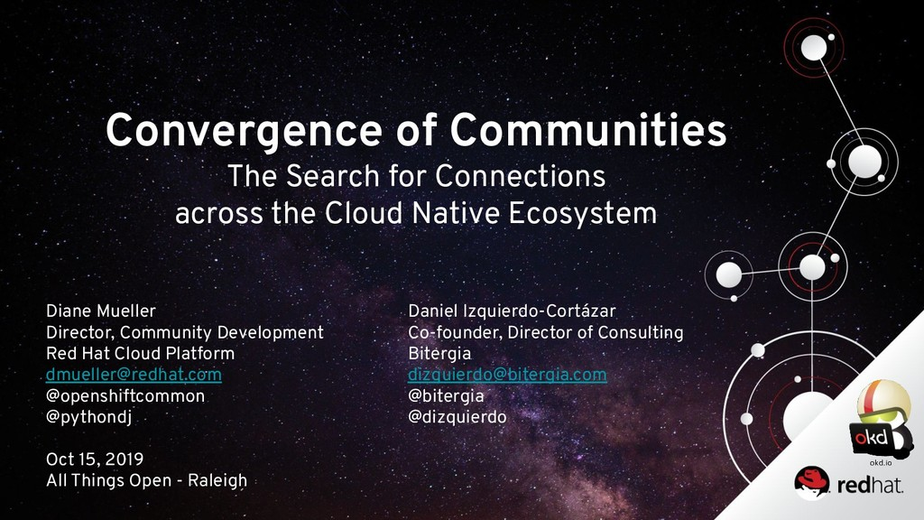 Convergence of Communities The Search for Conne...