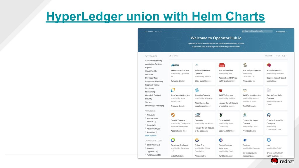 HyperLedger union with Helm Charts