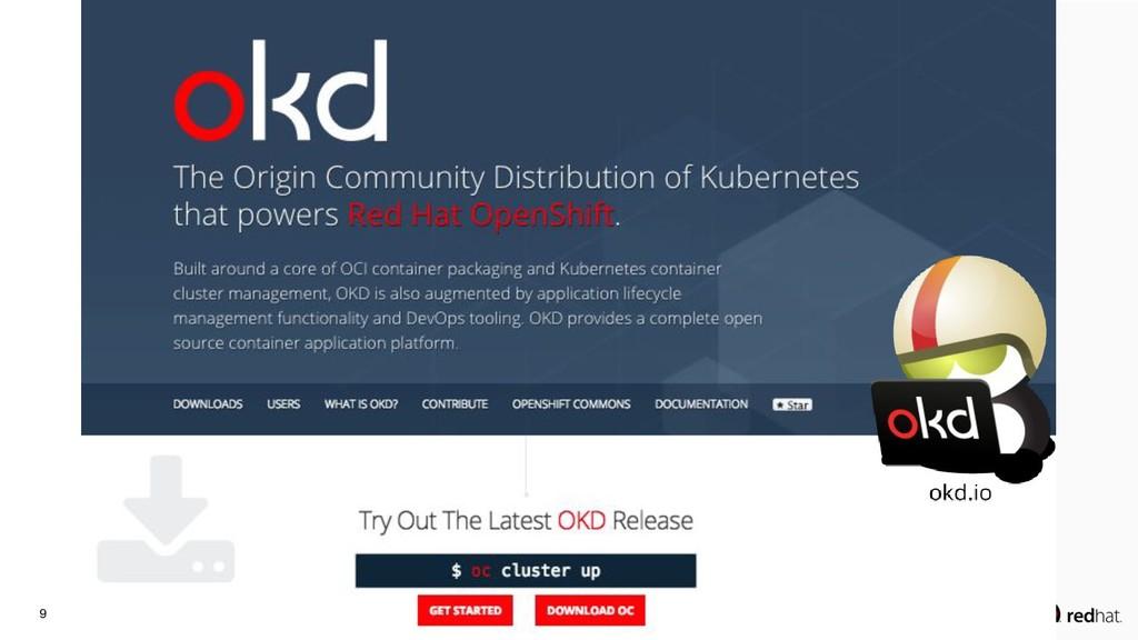 9 openshift.org >> okd.io