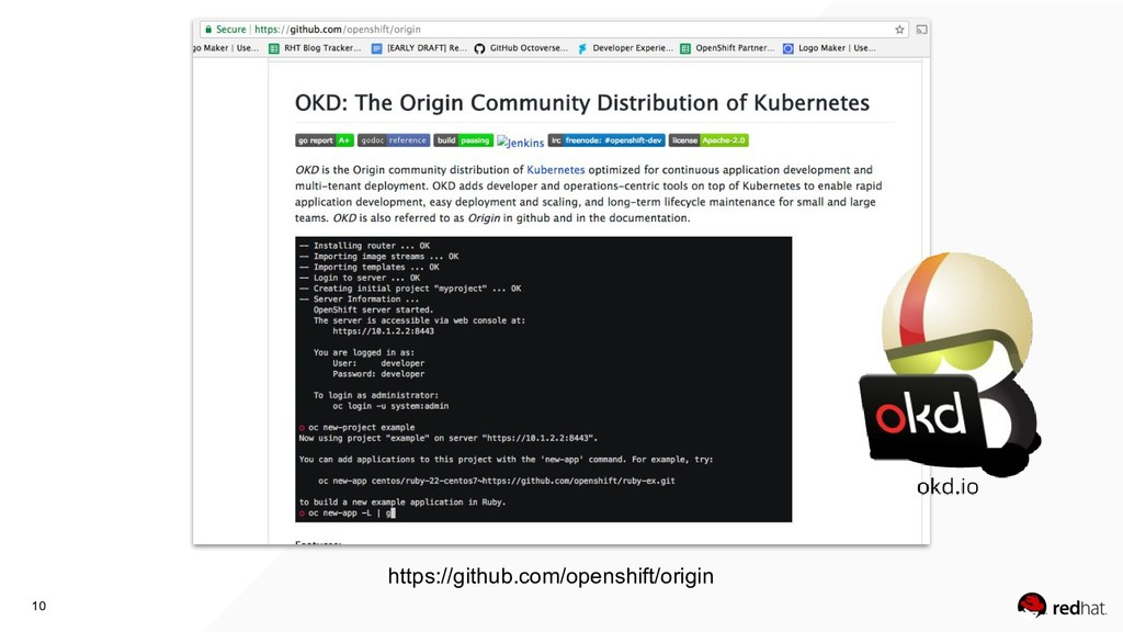 10 https://github.com/openshift/origin