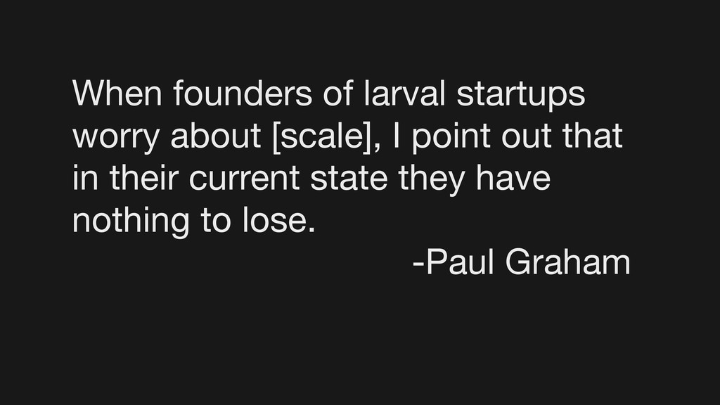 When founders of larval startups worry about [s...