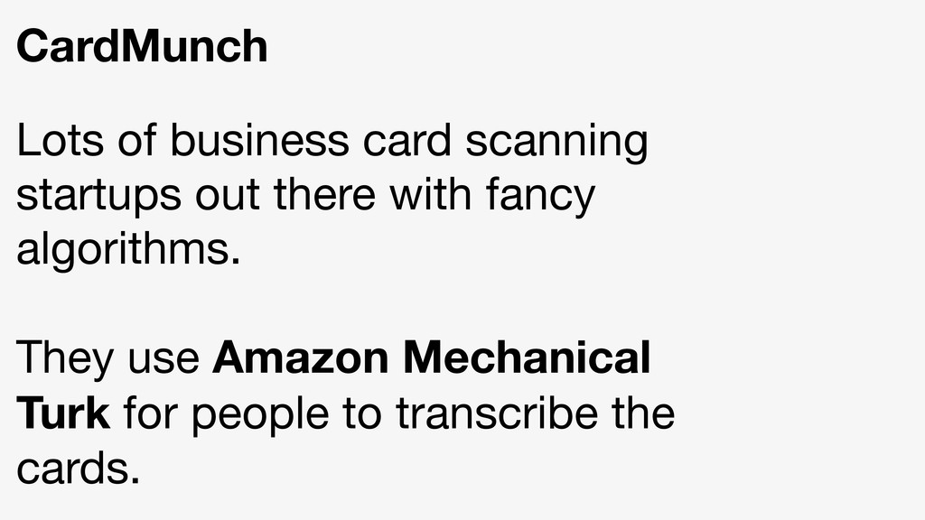 CardMunch Lots of business card scanning startu...