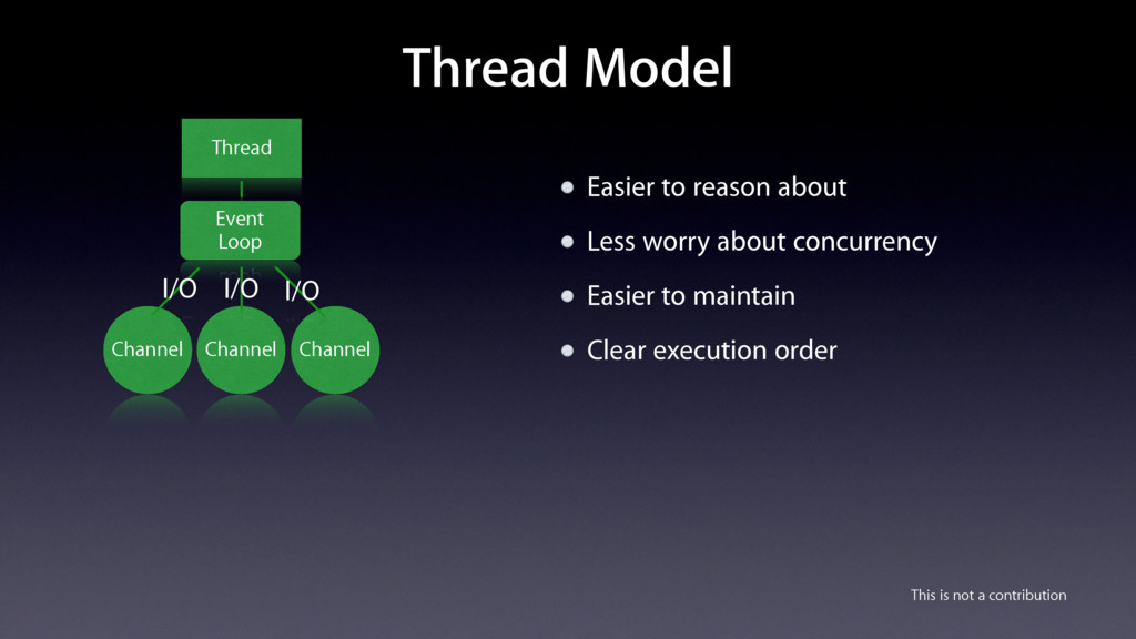 Thread Model Easier to reason about Less worry ...