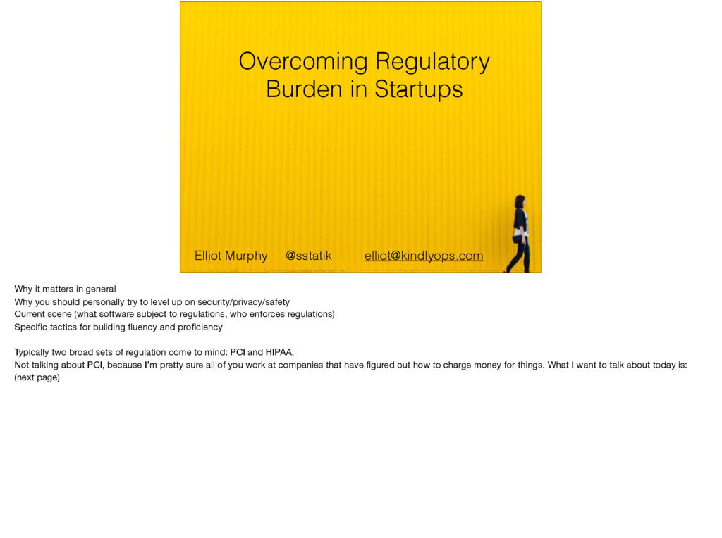 Overcoming Regulatory Burden in Startups Elliot...