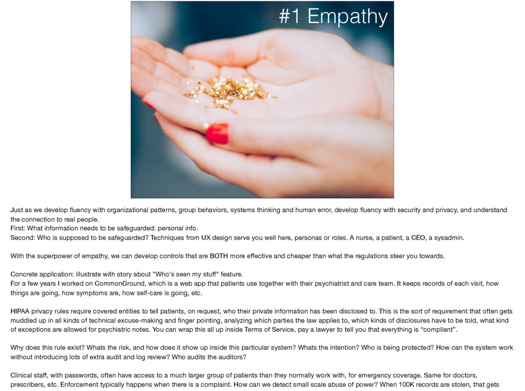 #1 Empathy Just as we develop fluency with organ...
