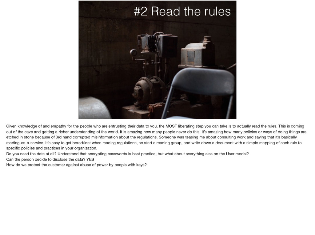 #2 Read the rules Given knowledge of and empath...