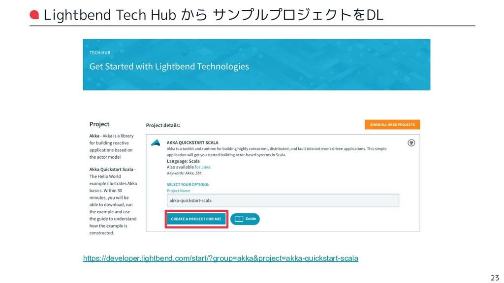 Lightbend Tech Hub から サンプルプロジェクトをDL https://dev...