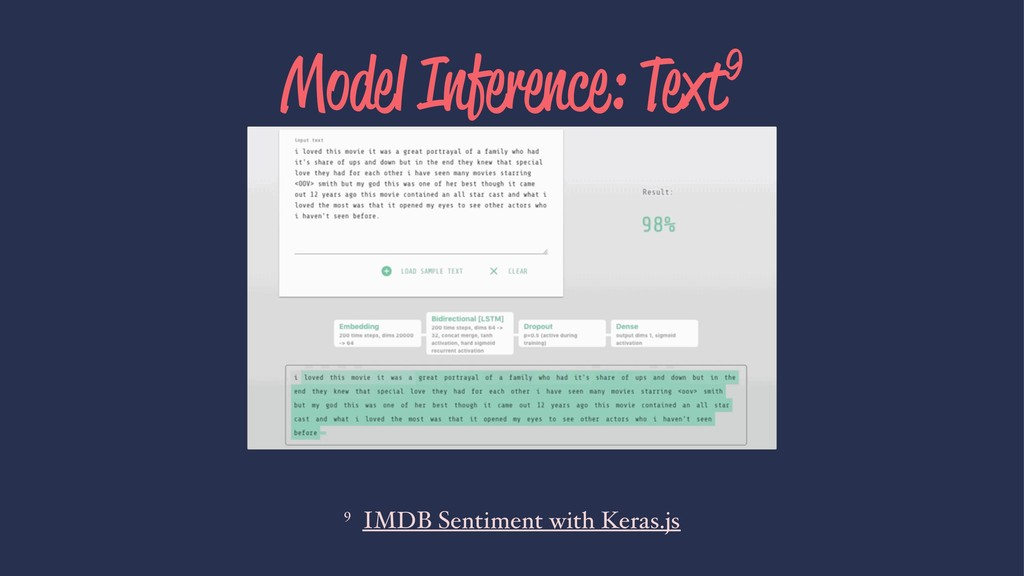 Model Inference: Text9 9 IMDB Sentiment with Ke...