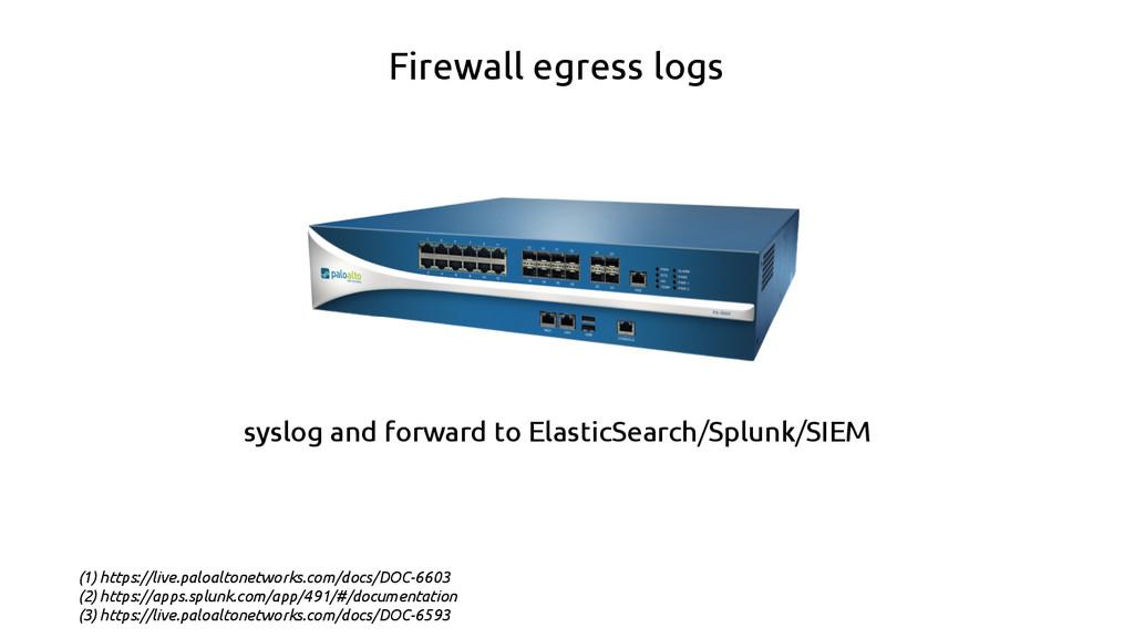 Firewall egress logs (1) https://live.paloalton...
