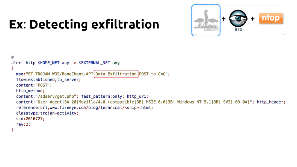 Ex: Detecting exfiltration