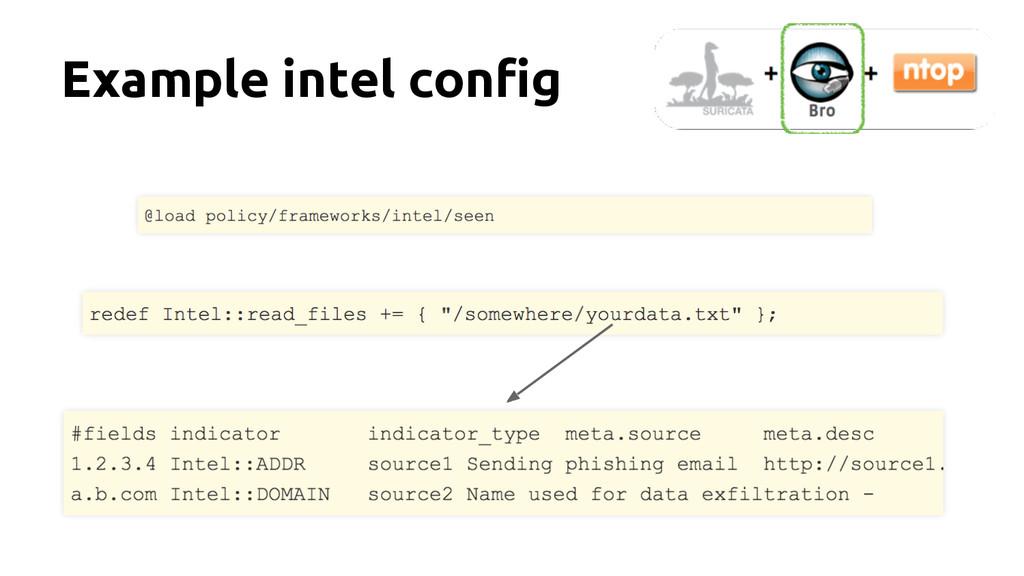 Example intel config