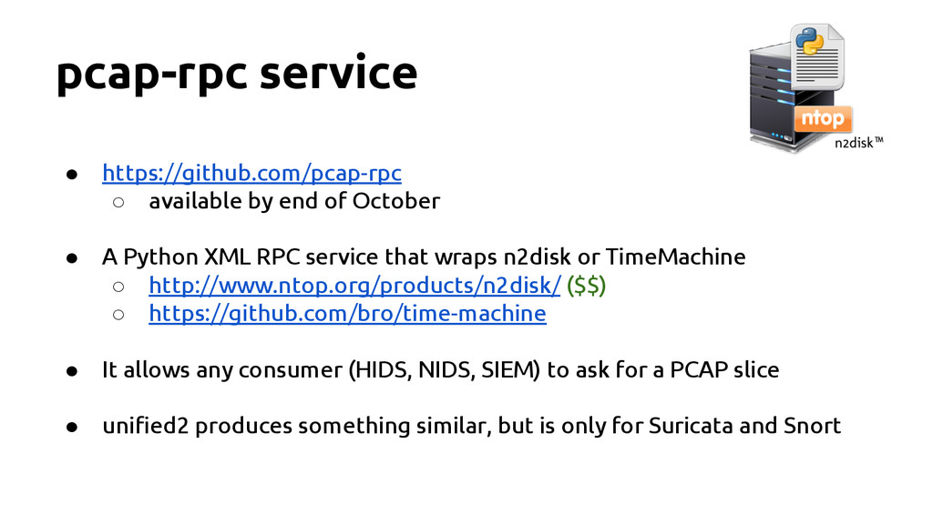 pcap-rpc service ● https://github.com/pcap-rpc ...