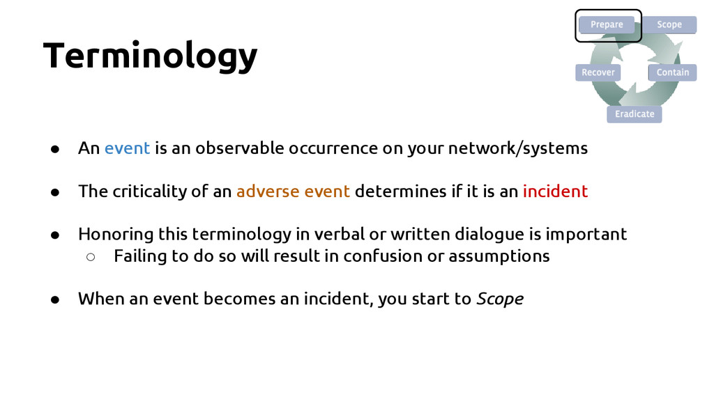 Terminology ● An event is an observable occurre...