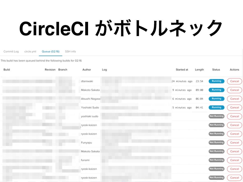 CircleCI ͕ϘτϧωοΫ