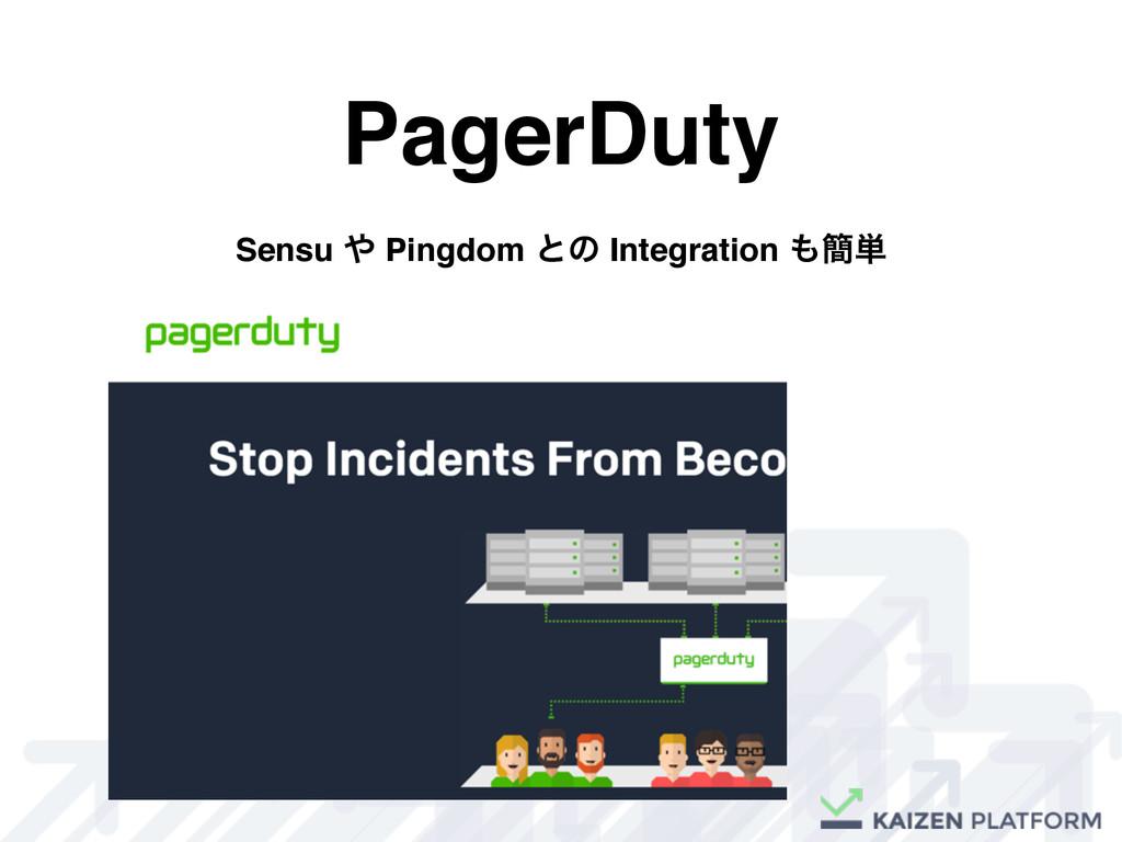 PagerDuty Sensu  Pingdom ͱͷ Integration ؆୯