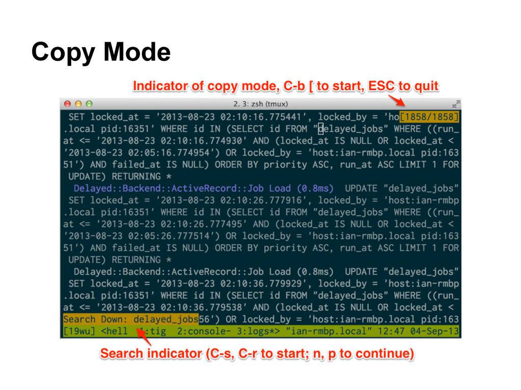 Copy Mode