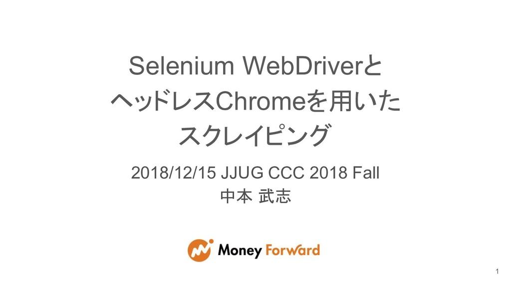 Selenium WebDriverと ヘッドレスChromeを用いた スクレイピング 201...