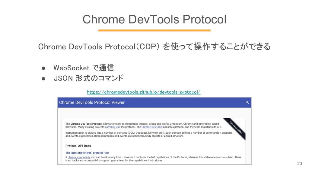 Chrome DevTools Protocol Chrome DevTools Protoc...