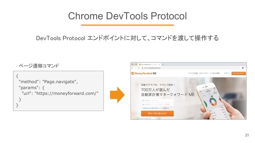 "Chrome DevTools Protocol { ""method"": ""Page.navi..."