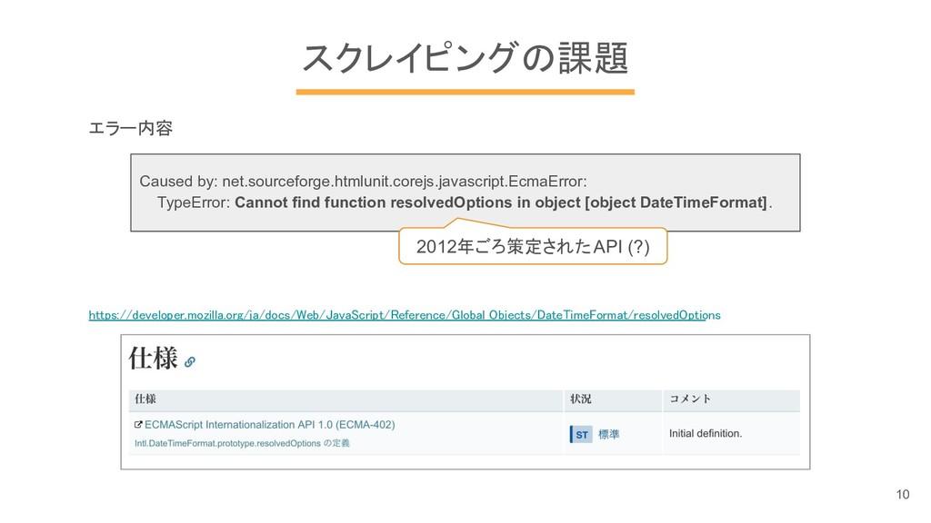 スクレイピングの課題 エラー内容 Caused by: net.sourceforge.htm...