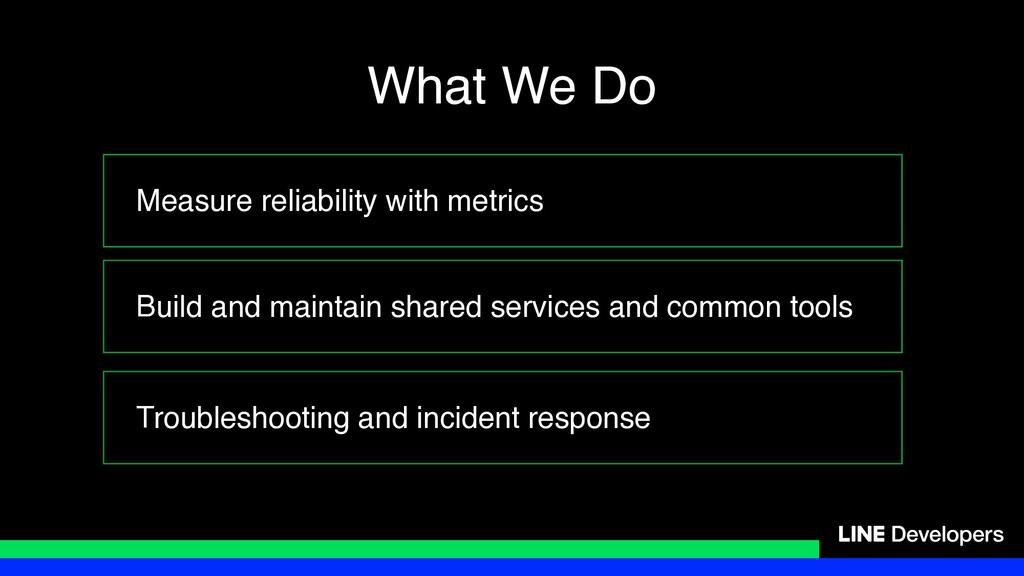 Measure reliability with metrics Build and main...