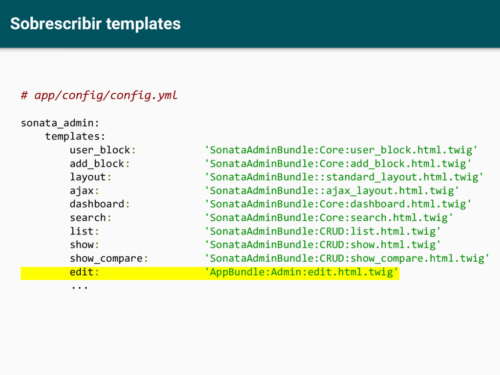 Sobrescribir templates # app/config/config.yml ...